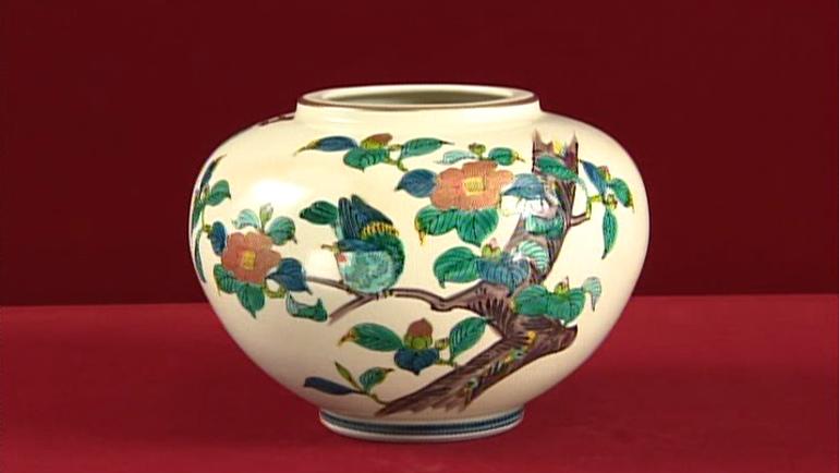 九谷焼の壺