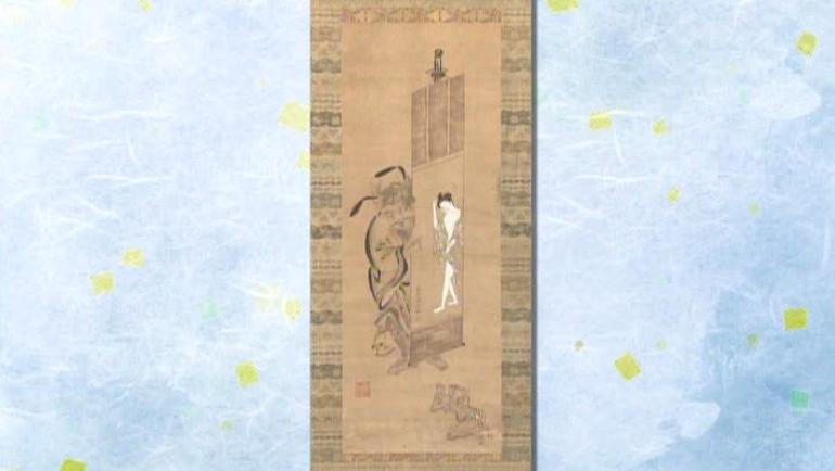 江戸時代中期の浮世絵師 鳥居清信の掛軸