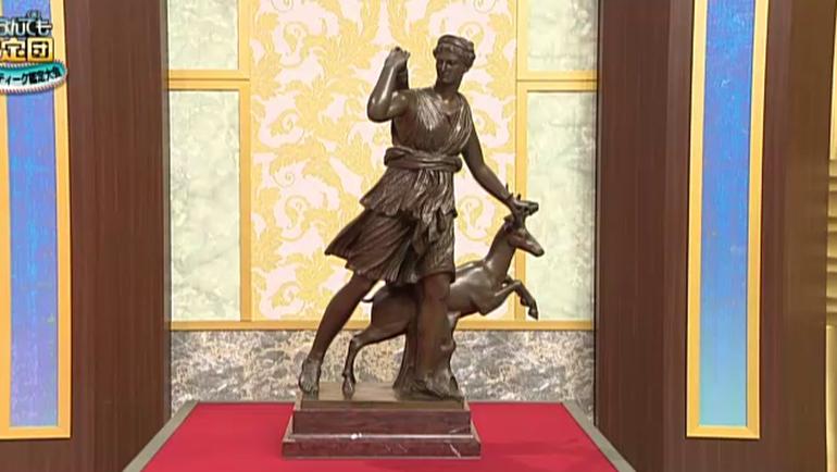 女神・ダイアナのブロンズ像