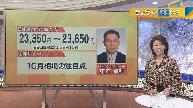 【日本株見通し】注目ポイントは「10月相場の注目点」
