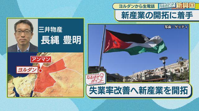 ヨルダン「失業率改善へ新産業を開拓」【なるほど・ザ・新興国】