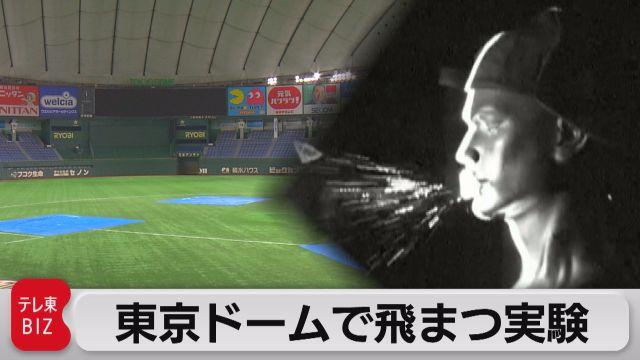 東京ドームで飛まつ実験
