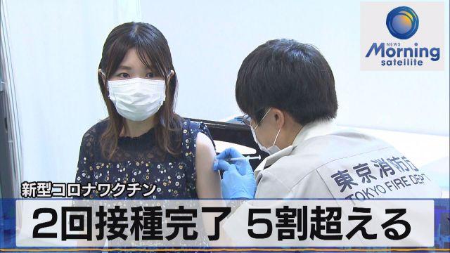 新型コロナワクチン 2回接種完了 5割超える