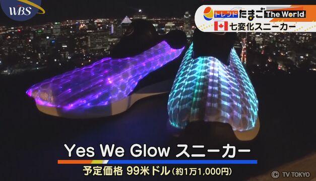 【トレたまinカナダ】七変化スニーカー GLOW