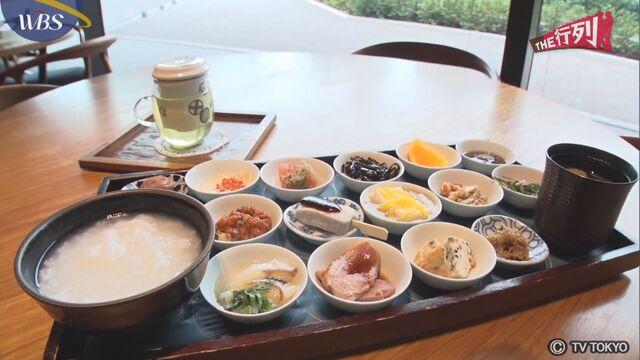 【THE行列】お寺のカフェの朝ごはん