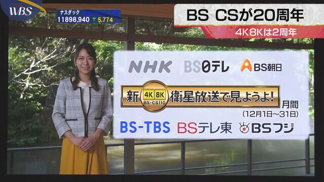 BS CSが20周年 4K8Kは2周年