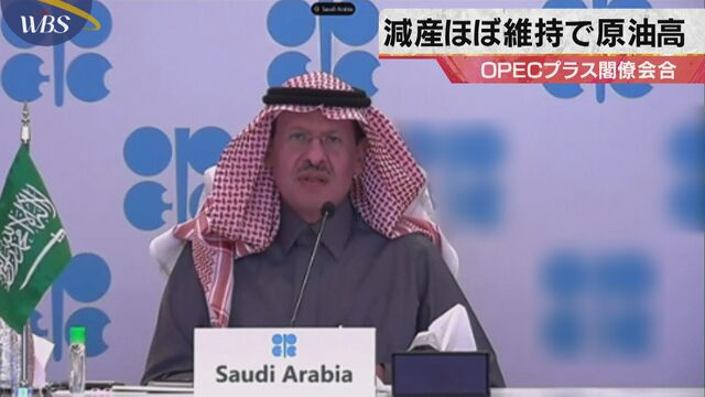 減産ほぼ維持で原油高 OPECプラス閣僚会合