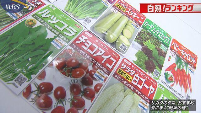 """【白熱!ランキング】春よ来い""""野菜の種"""""""