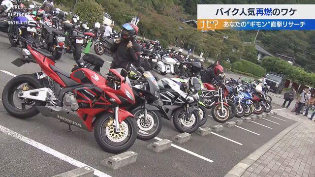 """バイク人気再燃のワケ あなたの""""ギモン""""直撃リサーチ"""