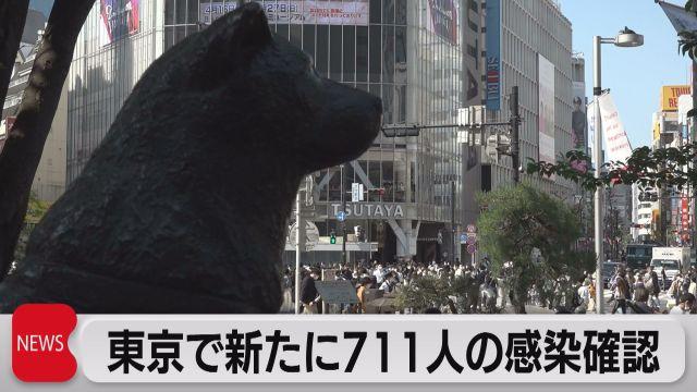 東京で711人感染 週内に緊急事態宣言要請へ