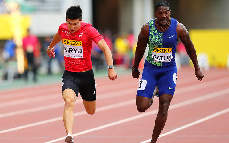 51eb403e24bcc 桐生 今季自己ベストの10秒01をマーク!王者ガトリンと0.01秒