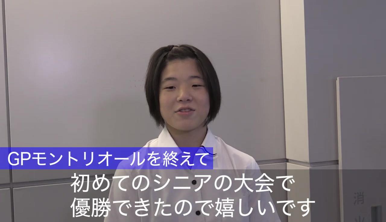 【柔道】五輪金メダリストを破った新星・古賀若菜「初めてのシニアの大会で優勝できたので嬉しい」
