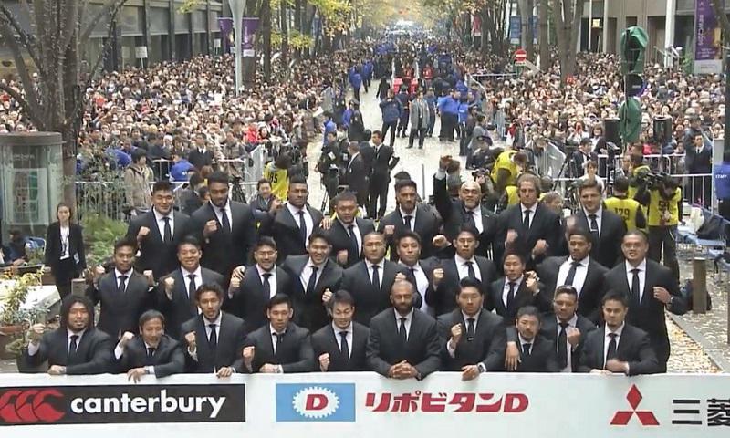 ラグビー日本代表パレード リーチ感謝「日本中がONE TEAM」