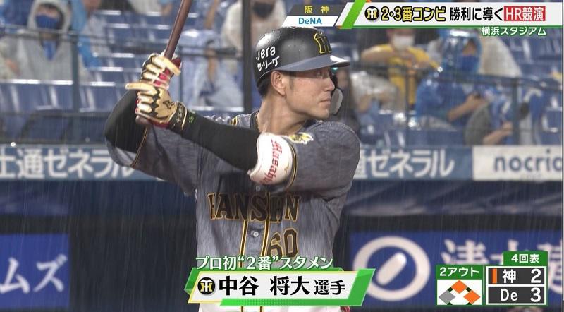 【阪神】中谷とサンズの2・3番コンビが勝利に導くホームラン競演