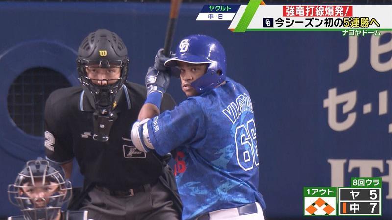 【中日】今季初の5連勝!強竜打線爆発で11得点の大勝
