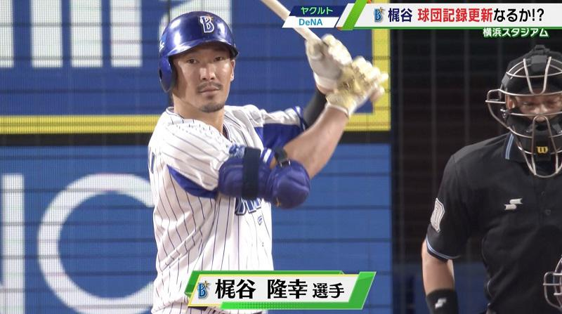 【DeNA】梶谷隆幸 5打数4安打!月間最多安打球団記録更新まであと1本