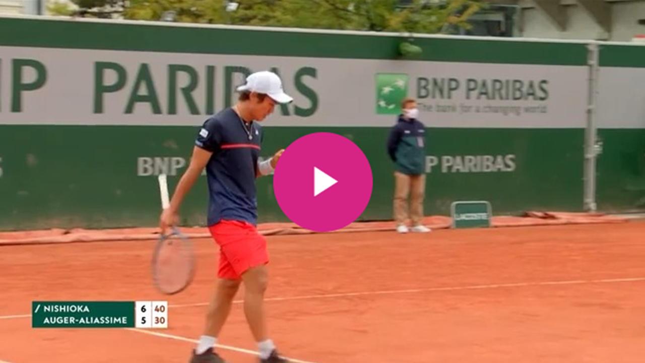 【ハイライト】男子シングルス1回戦 西岡良仁vsオジェアリアシム|全仏オープンテニス2020