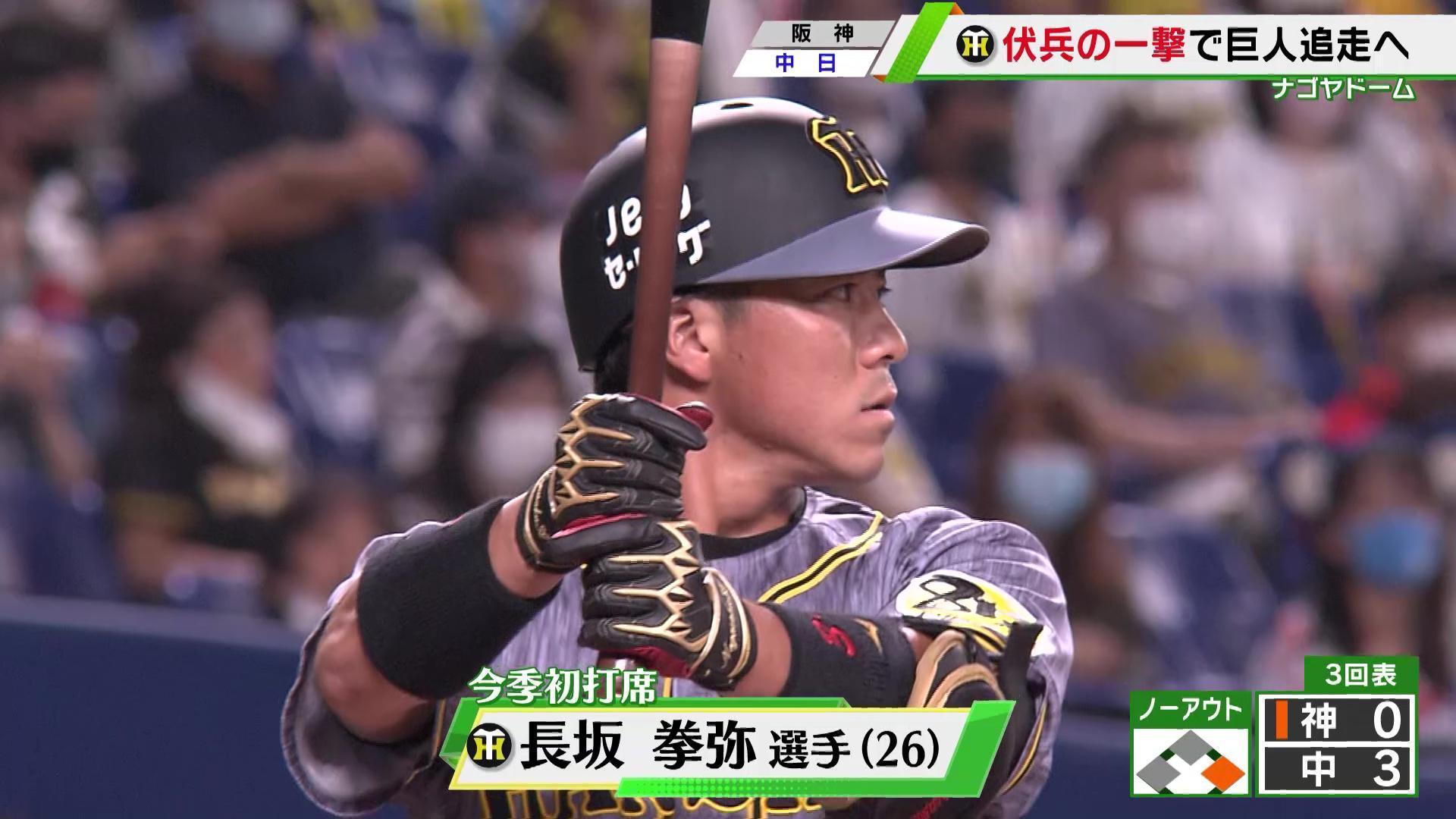 【阪神】長坂の2年連続初打席弾も2カード連続の負け越し
