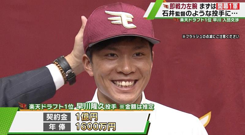 【楽天】ドラ1 ・早川隆久 最速155キロ左腕が契約合意、まずは「開幕一軍」