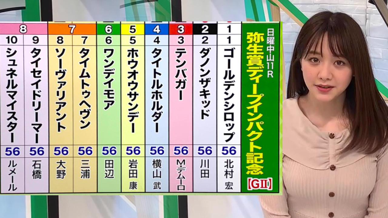 【報知杯弥生賞ディープインパクト記念】森香澄アナのチョイ足しキーワード 日曜重賞予想