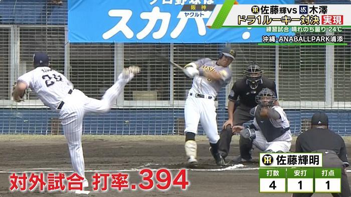 ドラ1ルーキー対決が実現!阪神・佐藤輝明vsヤクルト・木澤尚文