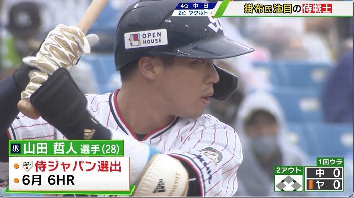 【ヤクルト】山田哲人 18号アーチ放つも5連勝ならず