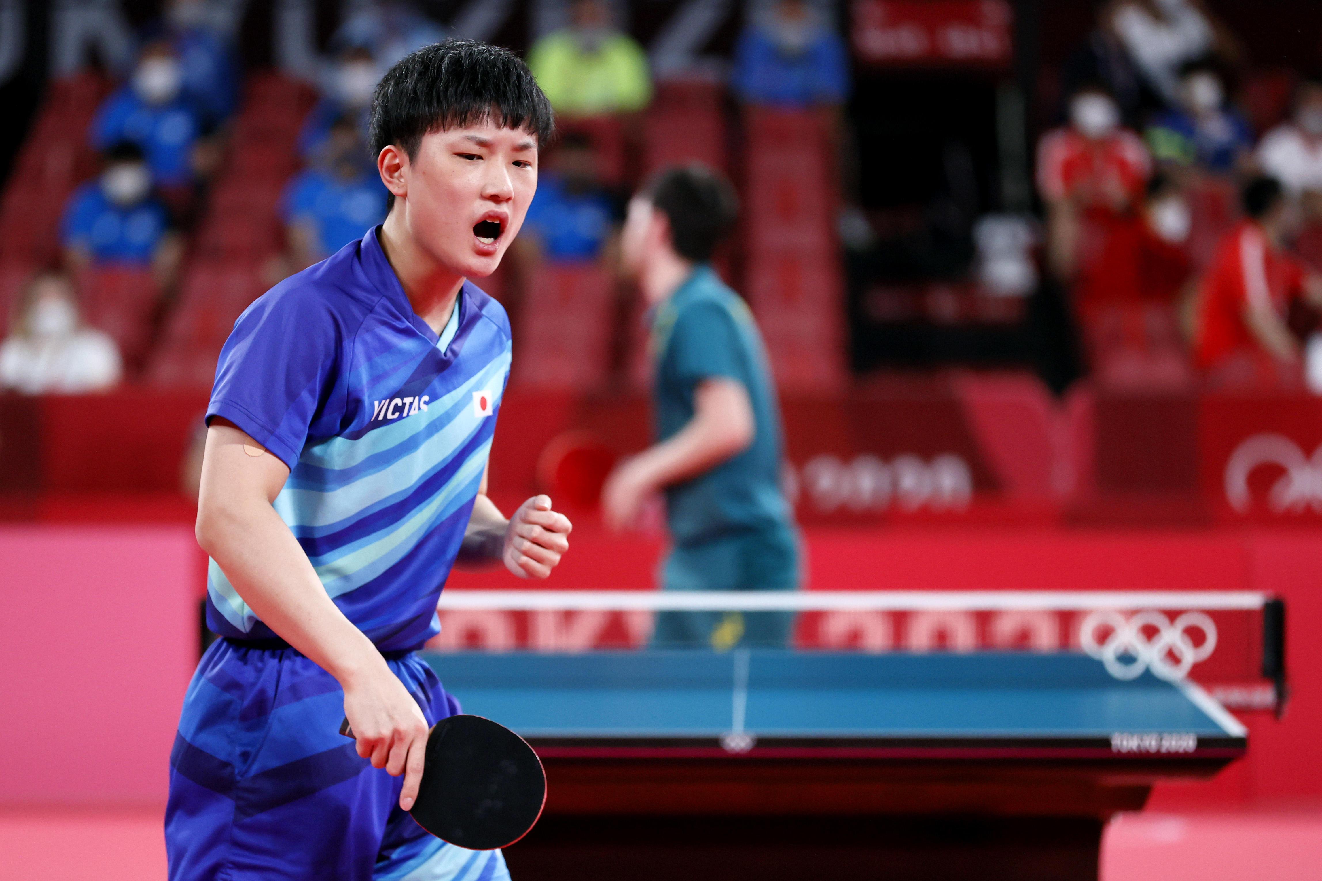 日本男子 全試合ストレート勝利 オーストラリアを圧倒!ベスト8進出【五輪卓球 団体】