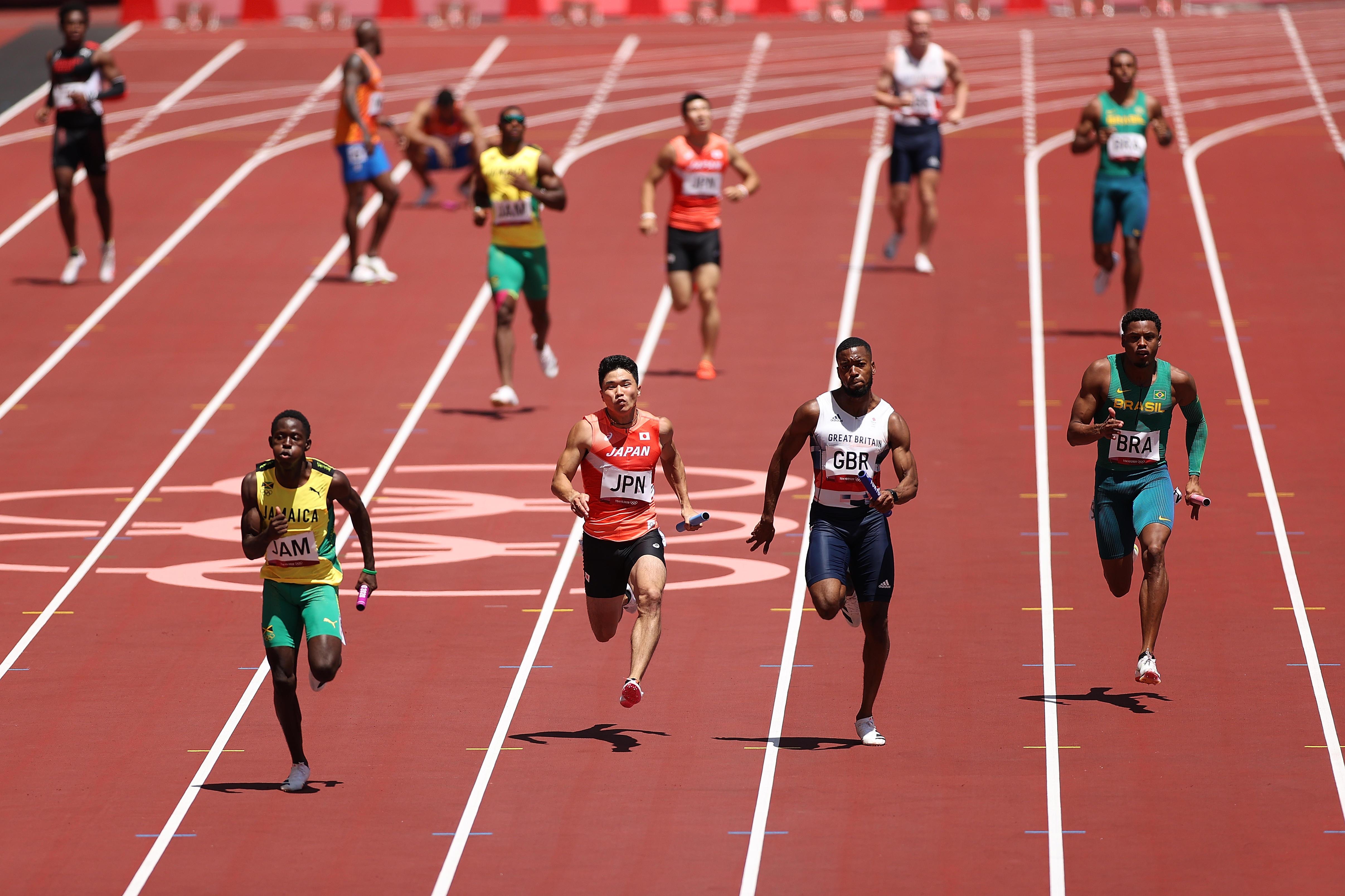 陸上男子4×100mリレー 日本は予選3着で決勝進出!米国がまさかの予選敗退