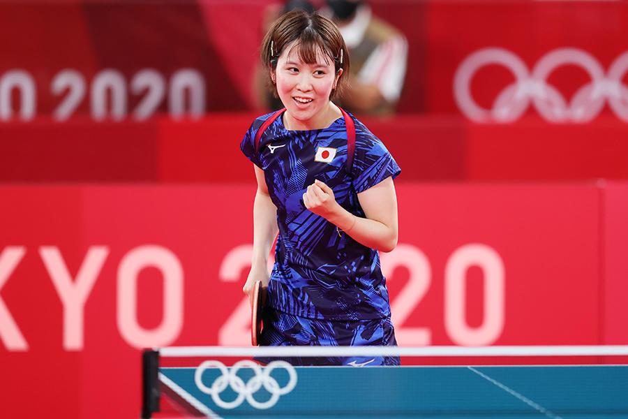 平野美宇 初の五輪「小さいころから目指してきた舞台。楽しくて、やっぱりオリンピックは特別」【五輪卓球 団体】