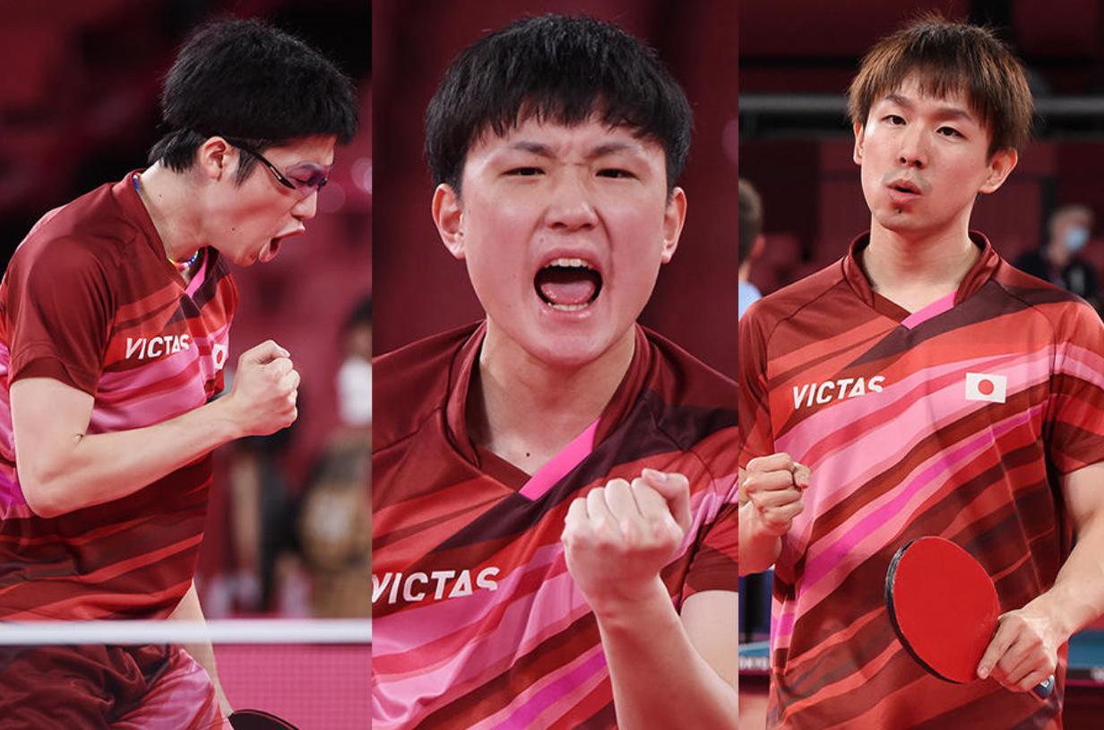 日本男子 スウェーデンに快勝!準決勝進出!「絶対勝つという気持ちでプレーした」【五輪卓球 団体】