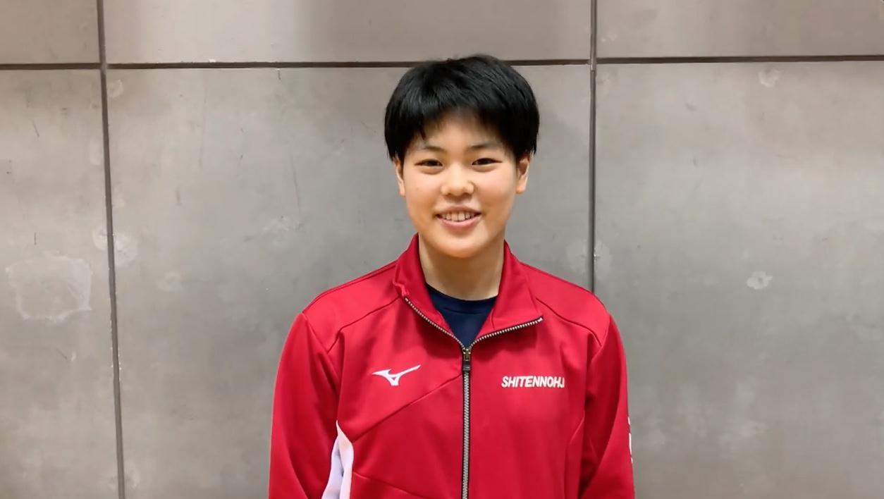 3位 面田采巳インタビュー「最終選考会は自分の力を出し切って通過できるように頑張りたい」【卓球 世界ユース代表1次選考合宿】