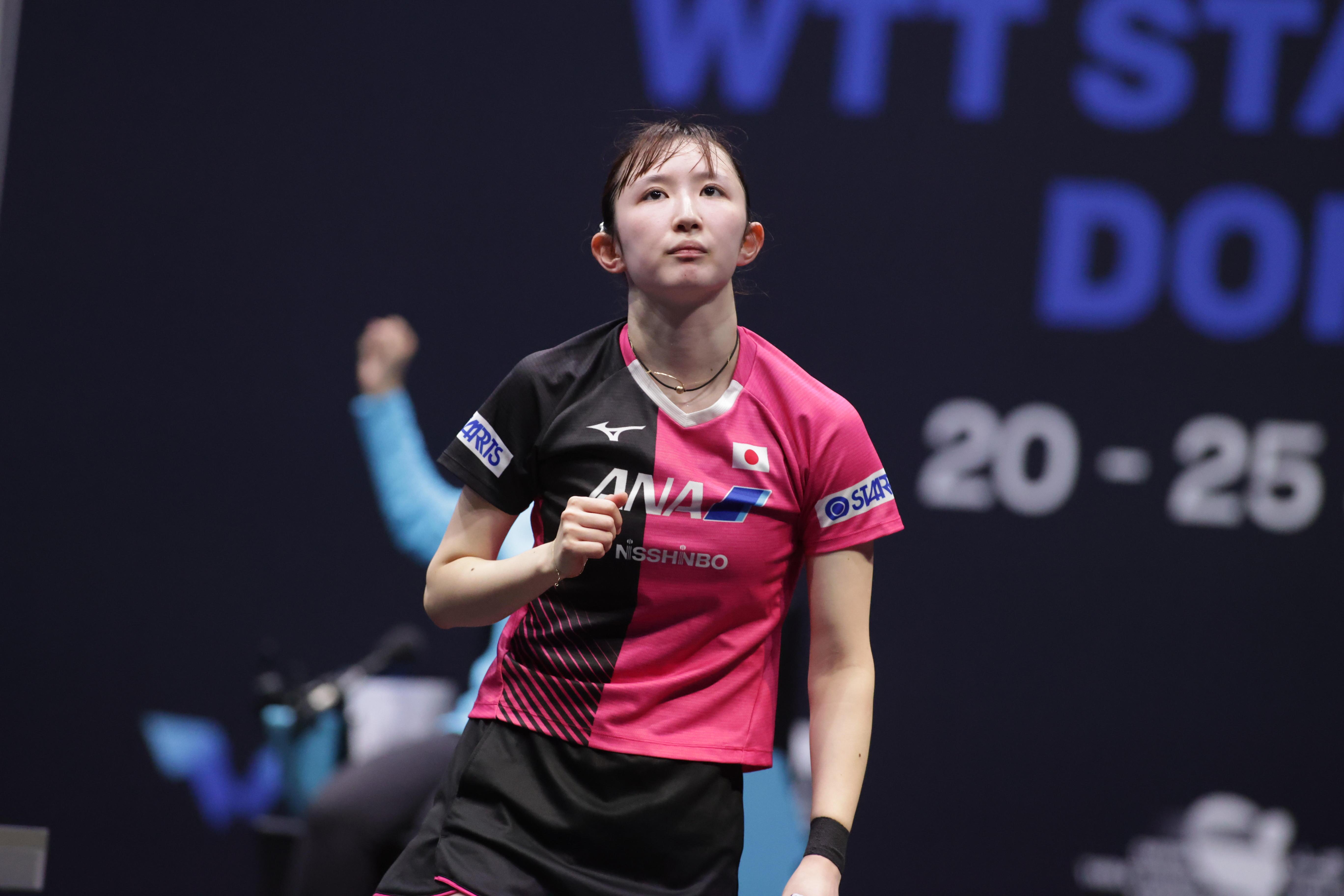 国際大会二冠の早田ひな「ダブルスもシングルスも強い」へ進化【WTTスターコンテンダードーハ】
