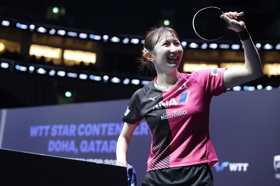 【卓球】五輪後初の国際大会で日本は3種目V!早田ひなは単複二冠を達成(WTTスターコンテンダードーハ/結果まとめ)