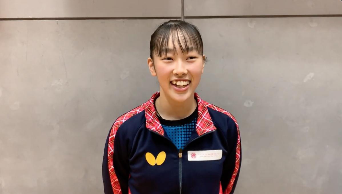 4位 赤江夏星インタビュー「最終選考会は向かっていく気持ちで1位を目指したい」【卓球 世界ユース代表1次選考合宿】