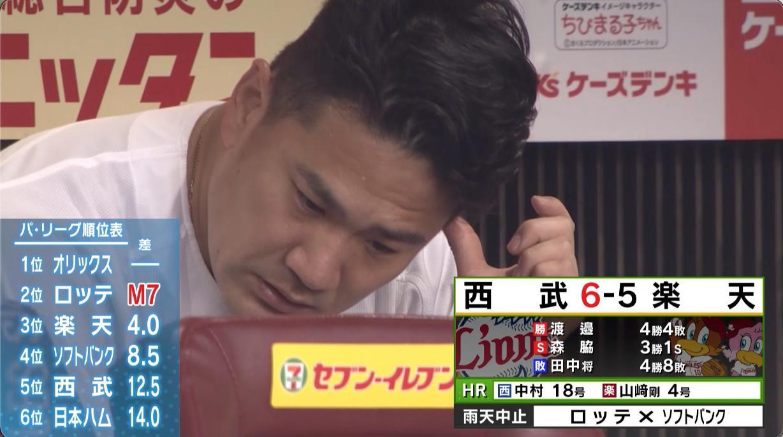 【楽天】田中将大 今季ワーストタイ5回途中5失点KOで8敗目