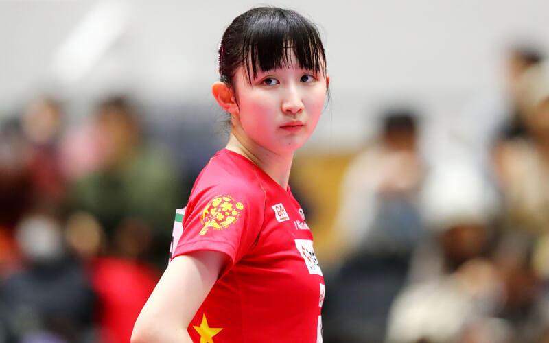 早田ひな 写真:西村尚己/アフロスポーツ